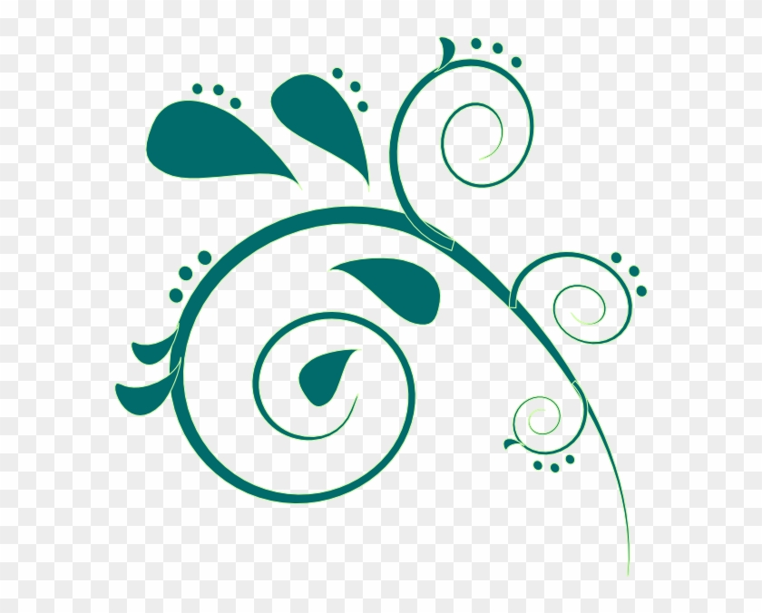 Teal Clipart - Free Paisley Clip Art #27927