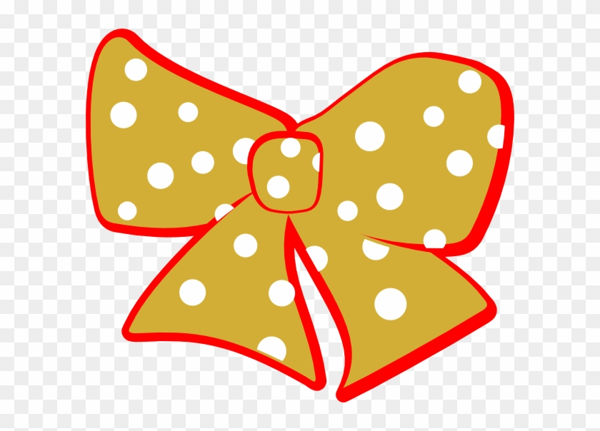 Red Gold Cheer Bow Clip Art - Gold Bow Clip Art #27944
