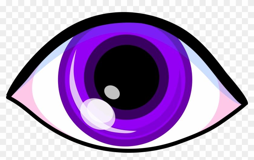 Clipart Info - Purple Eye Clipart #27971