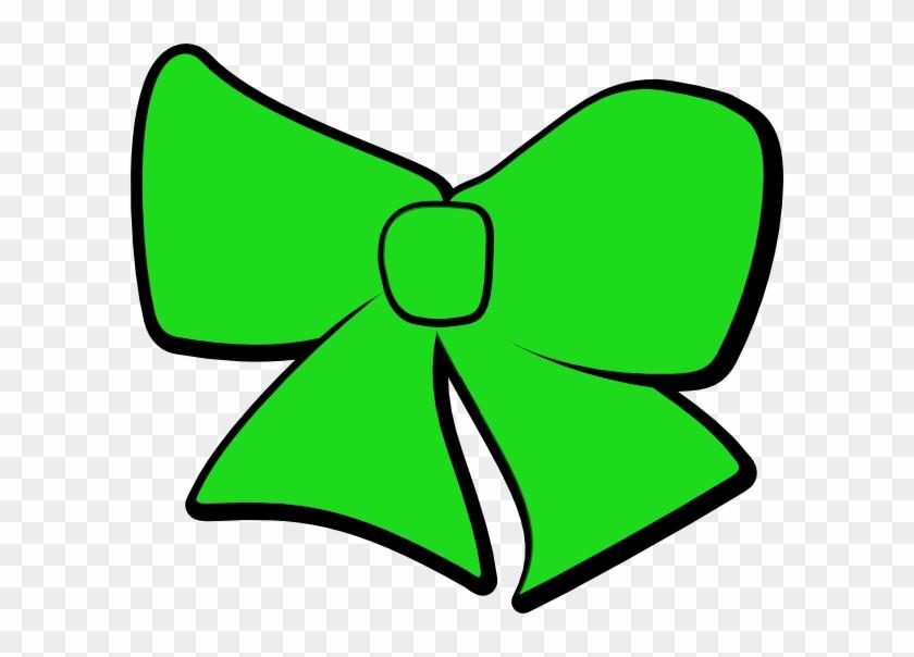 Green Bow Clip Art - Cheer Bow Green Clipart #27968