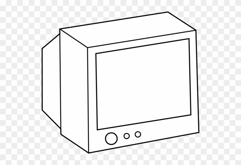 Tv Coloring Pages Tv Clipart Coloring Page Pencil And - Tv Black And White #28001