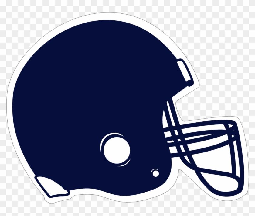 Navy Clipart Megaphone - Navy Blue Football Helmet #28009