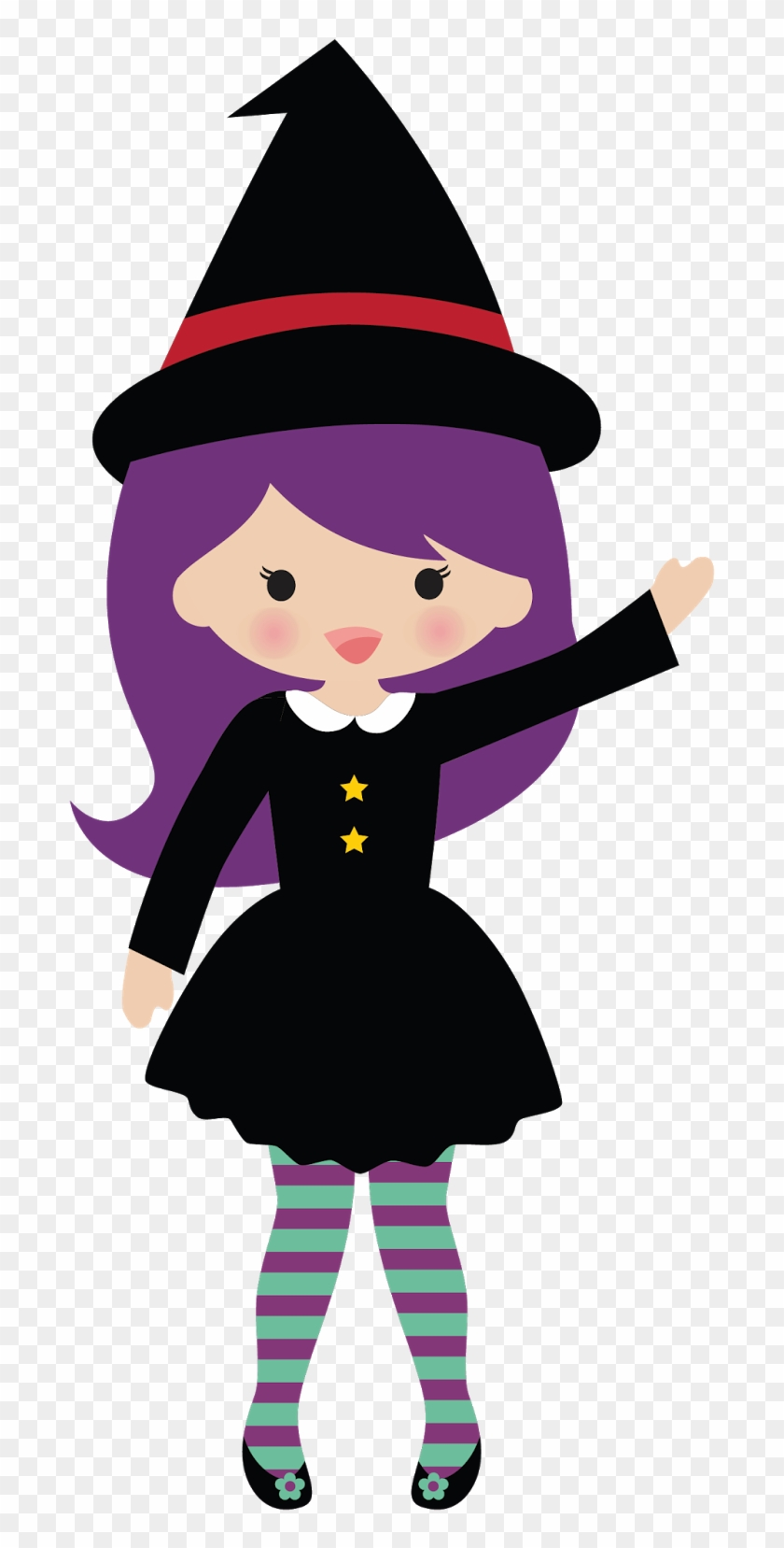Clip Art Is A Print Out Of Godiva Chocolates Love To - Cute Witch Clipart #28017