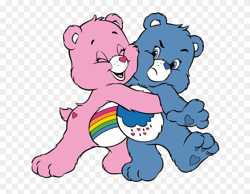 Funny Bears Cartoon Clip Art - Grumpy Bear And Cheer Bear #28039