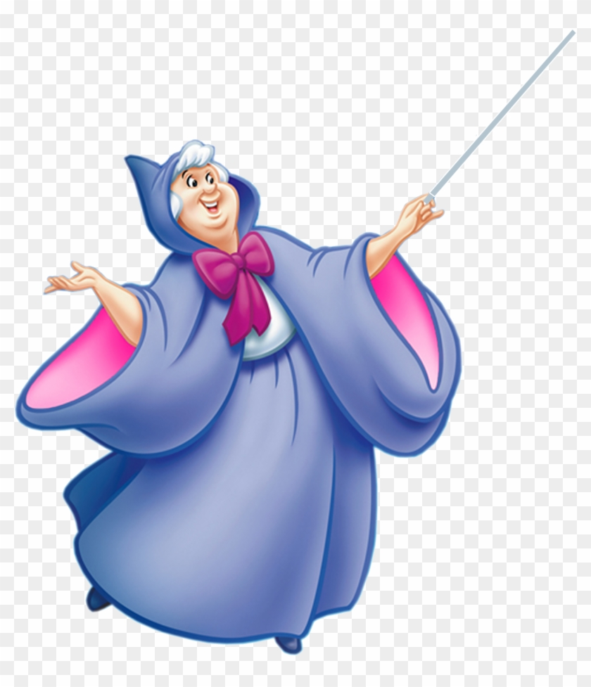 Cinderella Clipart - Fairy Godmother Cinderella Png #28043