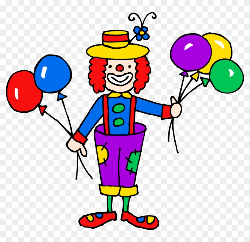 Circus Tent - Clown With Balloons Clipart #28122