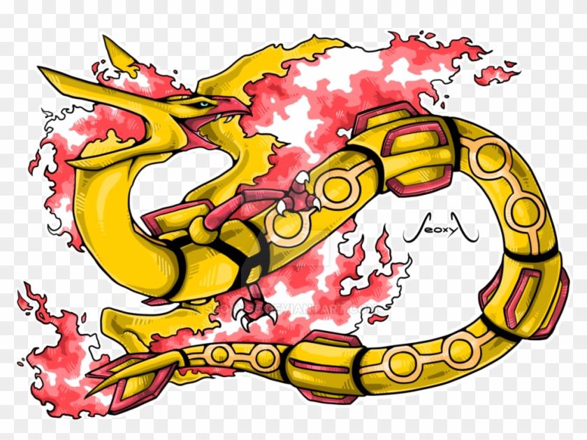 400 Likes Celebration Moltres X Rayquaza By Seoxys6 - Charizard And Rayquaza Fusion #28126