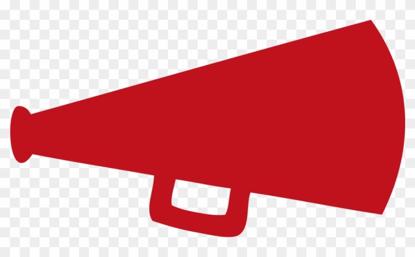 Cheer Megaphone Cheerleader Megaphone Clipart - Red Cheer Megaphone Clipart #28190