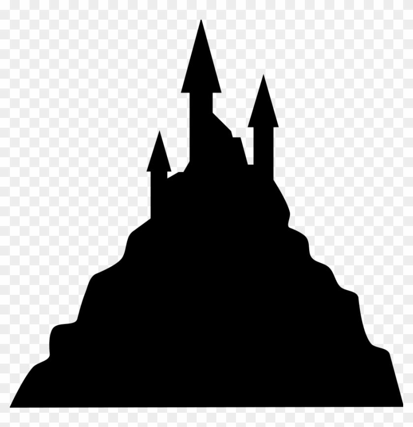 Shadows Clipart Cinderella - Spooky Castle Silhouette - Free
