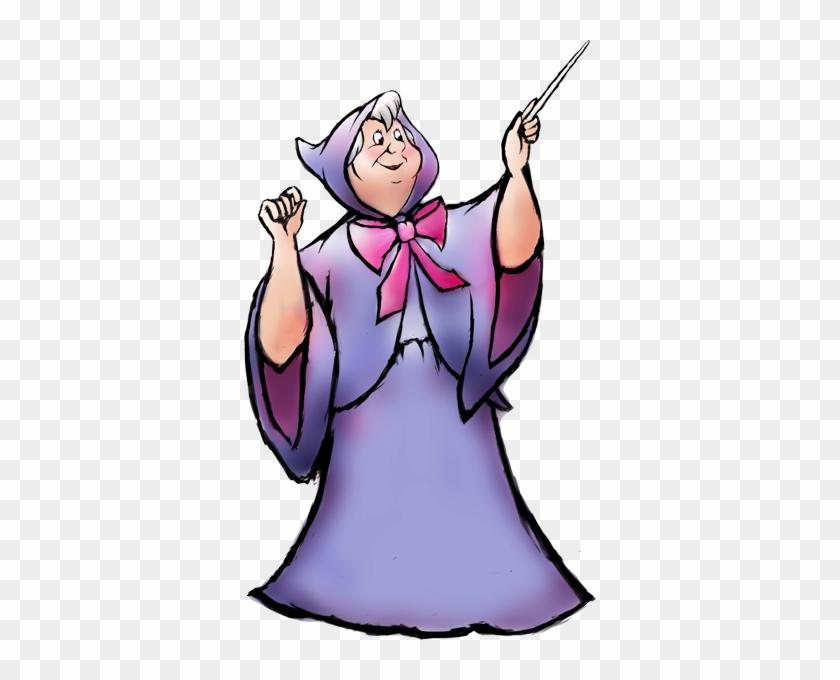 Cartoon - Cinderella Fairy Godmother Dress Outfit Costume Adult #28248