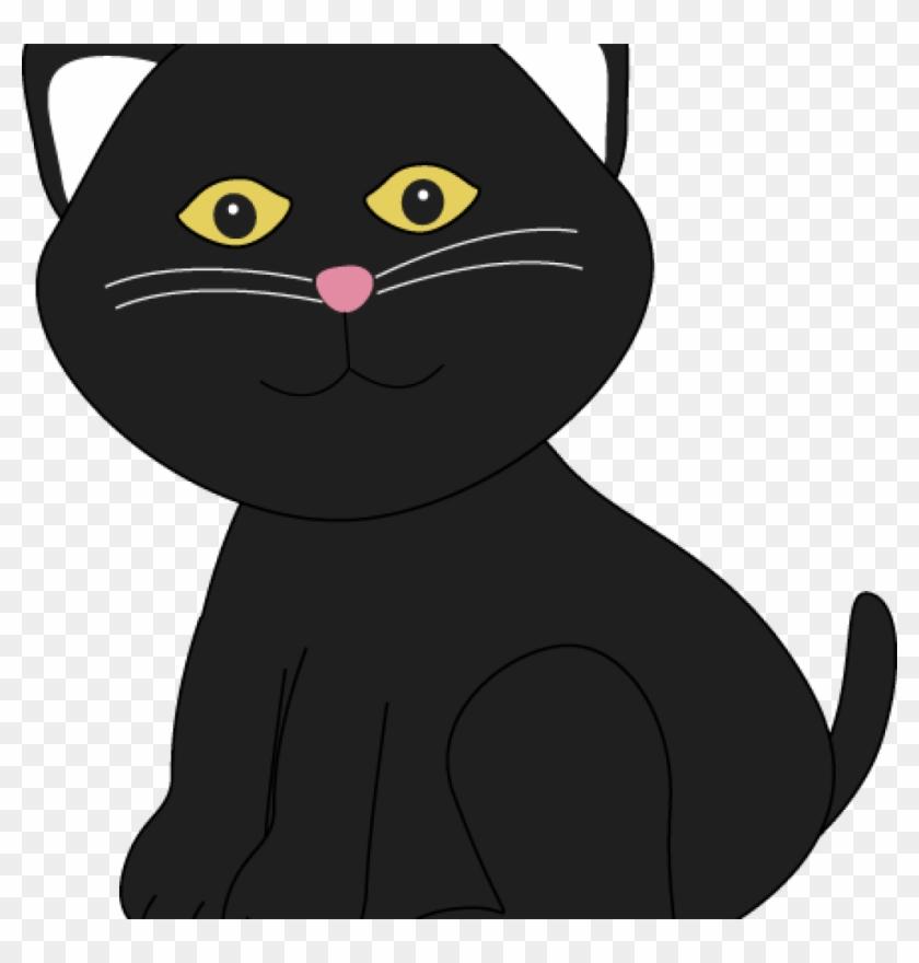 Black Clipart Cute Halloween Black Cat Clip Art Cute - Cute Black Cat Clip Art #28279