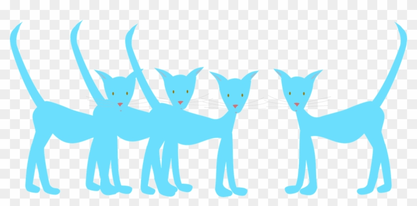 Blue Cats - Clip Art #28311