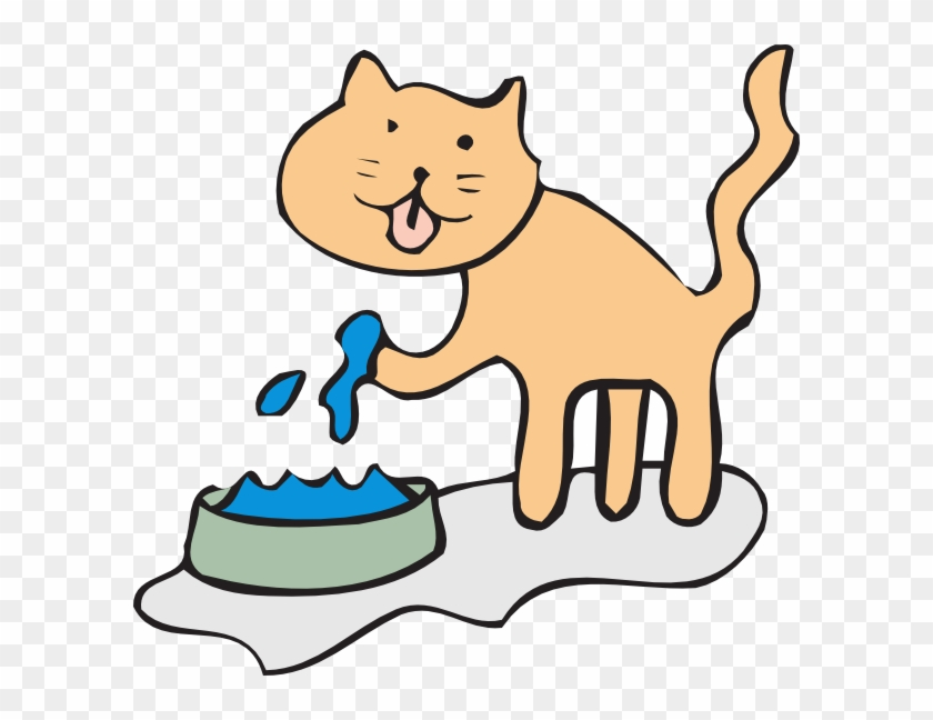 Clipart Feeding Cat Feed Free Download Clip Art Clipart - Cat Drinking Water Clipart #28313
