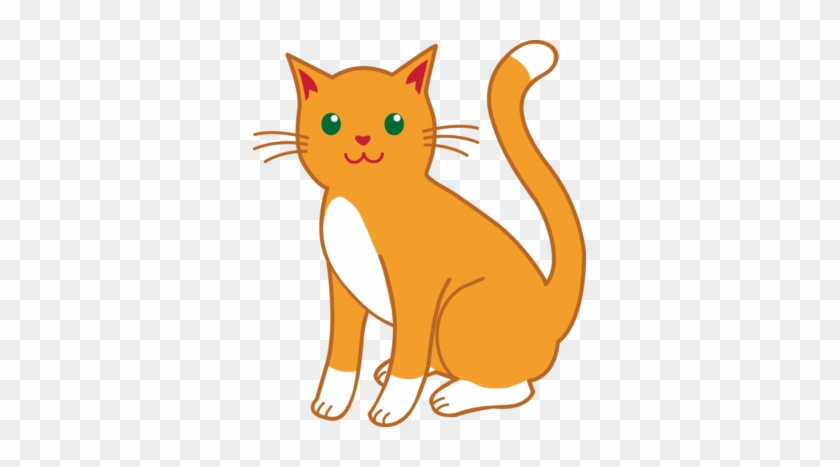 Girl Cat Clipart Free Cat Clipart - Orange Tabby Cat Clipart #28315