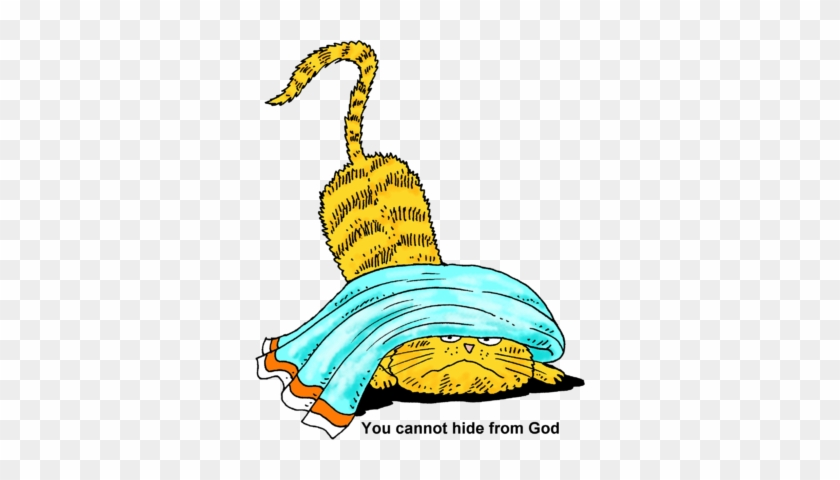 Cannot Hide From God Clip Art - Cat Hiding Clipart #28327