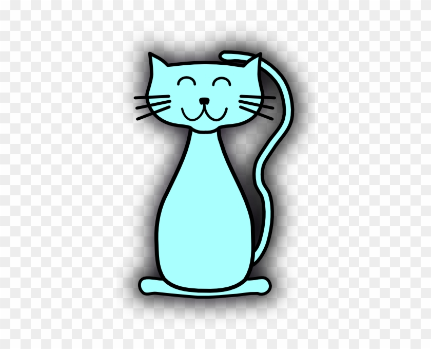 Blue Cat Clipart #28348