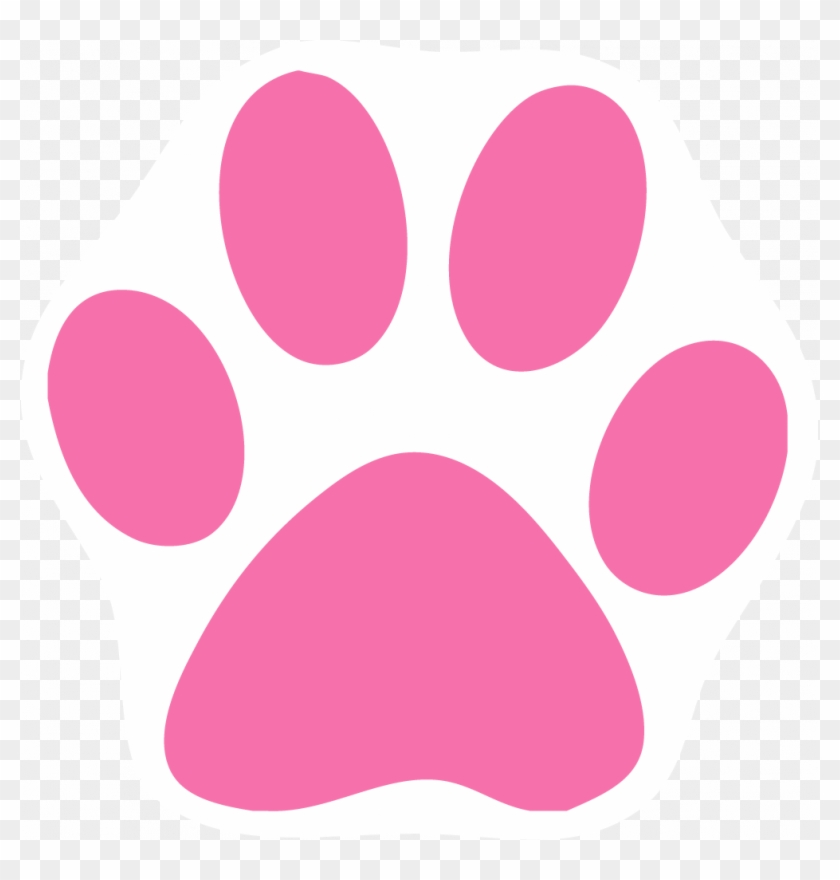 Cat Paw Prints Images Free Download Clip Art - Pink Cat Paw Print #28363