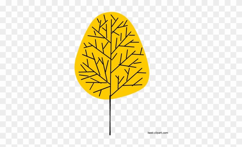 Yellow Tree Free Clip Art - Clip Art #28352