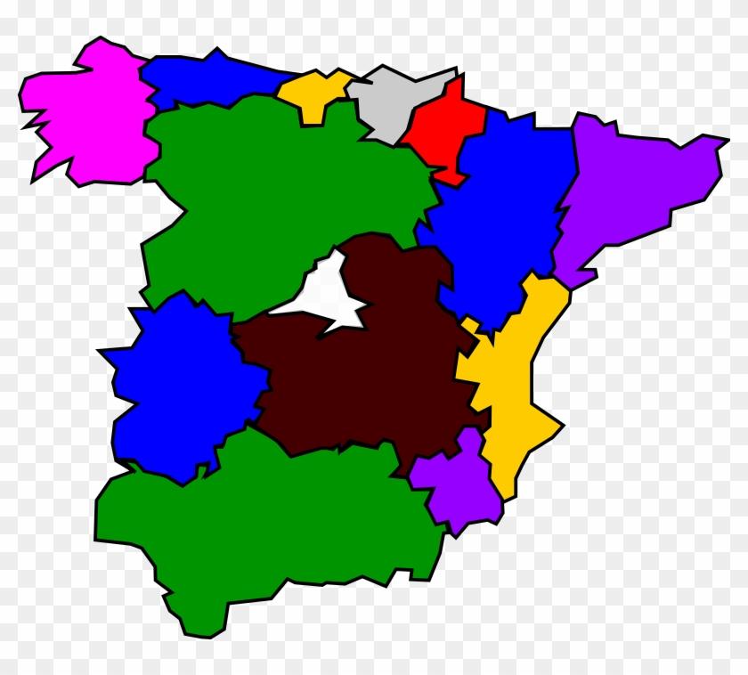 Clipart Spanish Map #28362