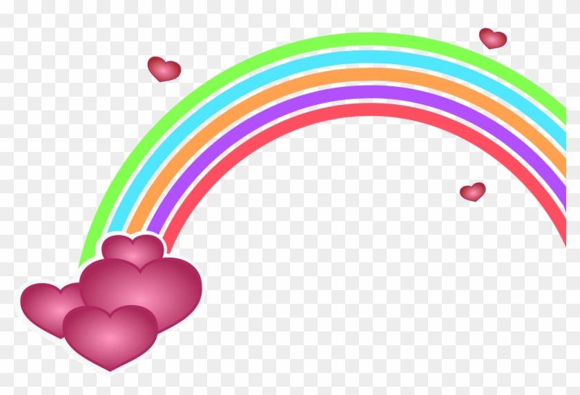 Rainbow Clip Art Image Free Download - Valentine's Day Clip Art #28365