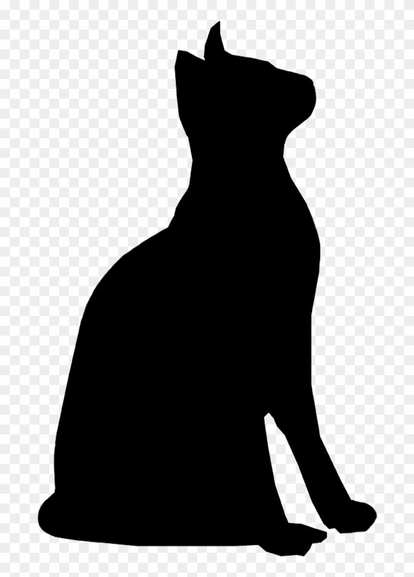 Clip Art Cat Silhouette Clip Art - Cat Silhouette Transparent Background #28369