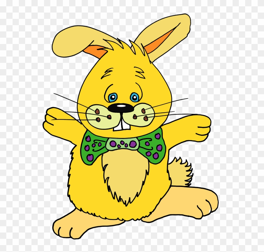 Color Bunnies In Spanish And English Clip Art - Cartoon #28374