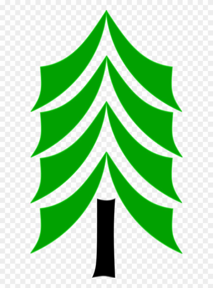 Vector Clip Art - Cedar Tree Clip Art #28397