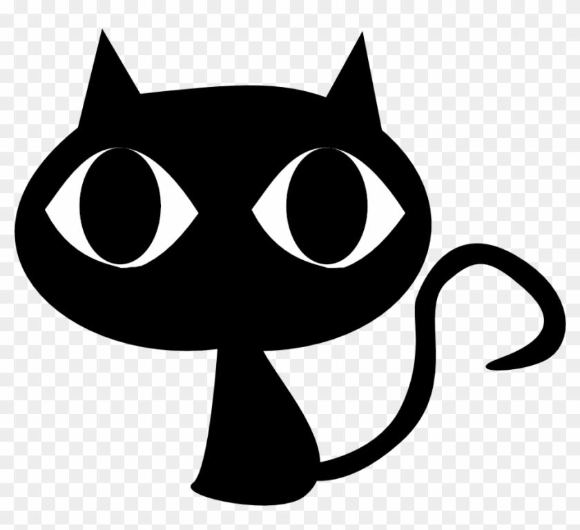 Black Cat - Black Cat Cartoon Png #28404