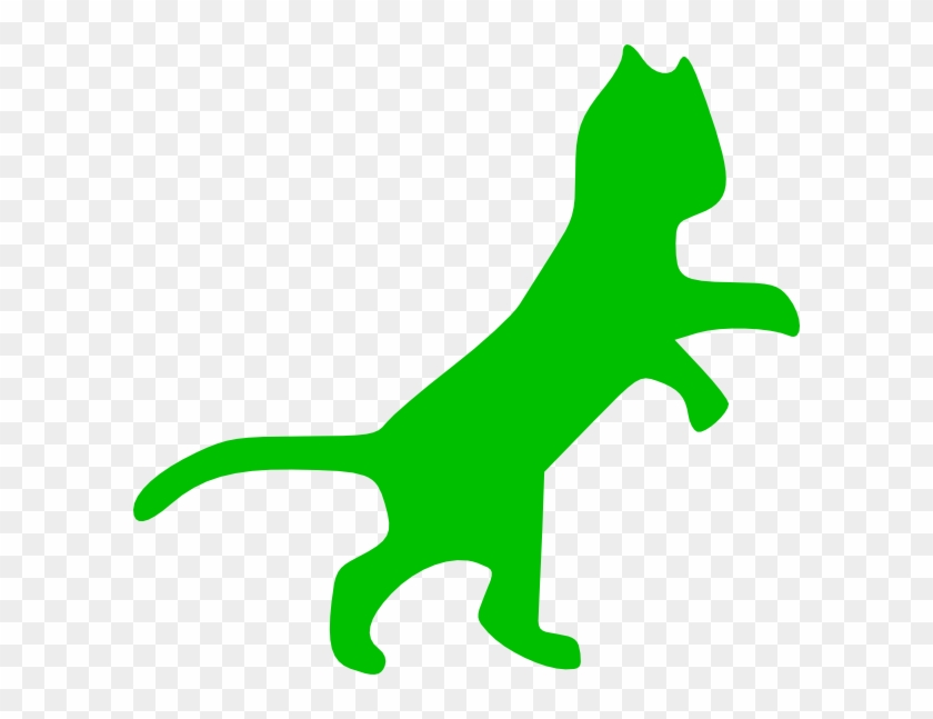 Green Cat Clip Art #28406