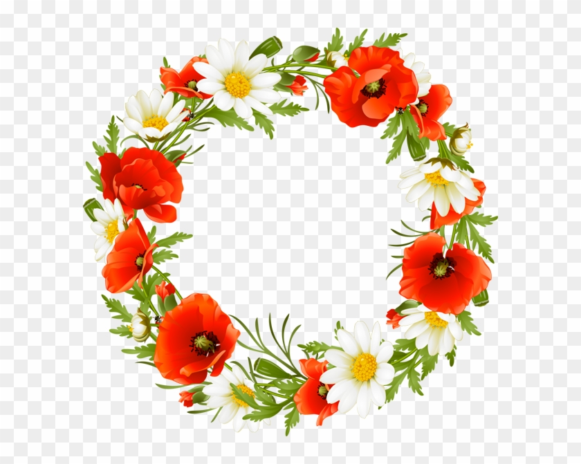 Clipart Info - Wreath Of Flowers Clipart #28422