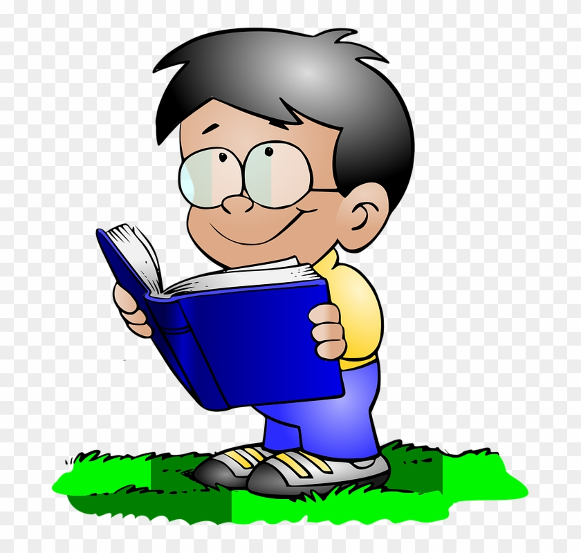 """When To Use The Spanish Neutral Article """"lo"""" - Boy Reading Clipart #28441"""
