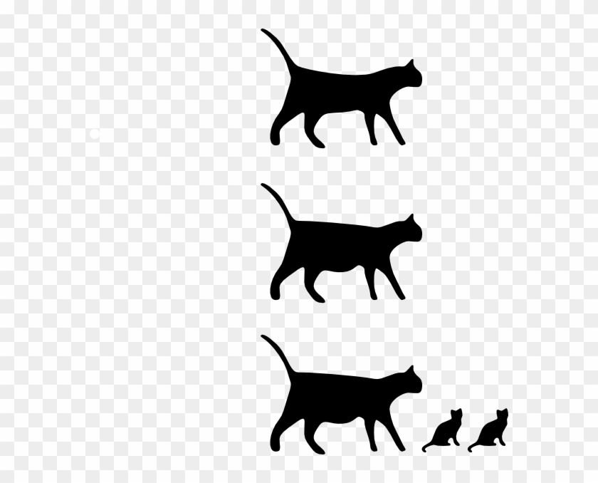 Free Vector Cat Icons Clip Art - Walking Cat Icon #28458