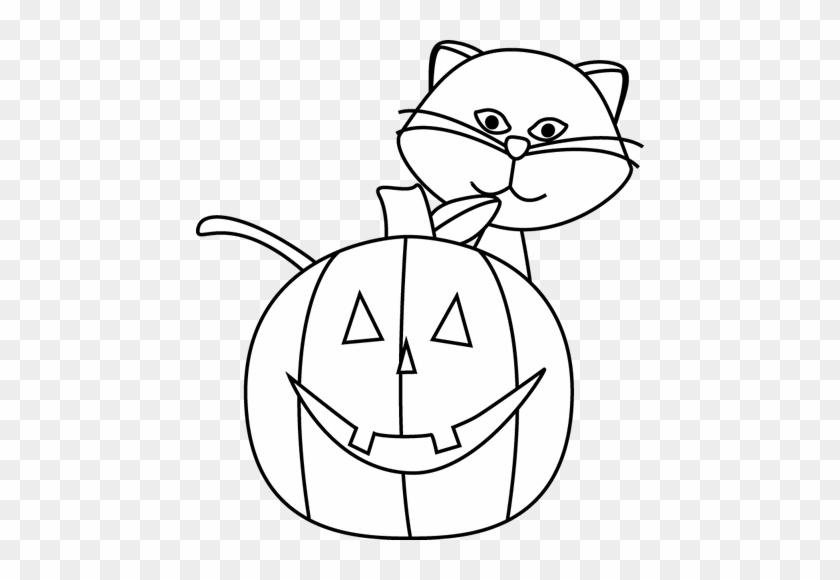 Halloween Black And White Halloween Cat Black And White - Mycutegraphics Halloween Black And White #28475