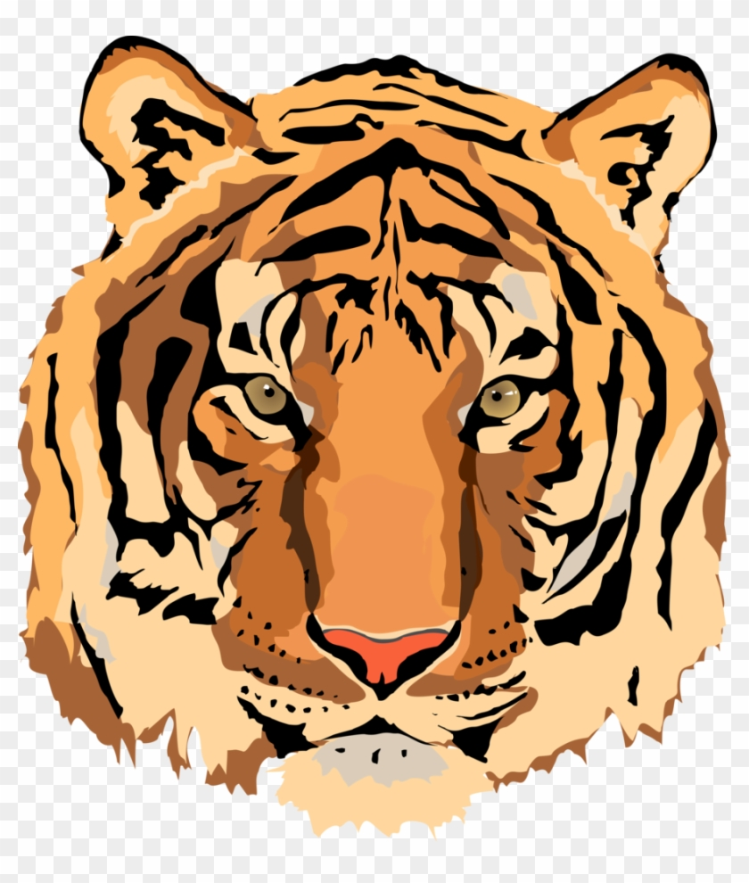 Tiger Vector - Clipart Library - Tiger Face Vector Png #28585