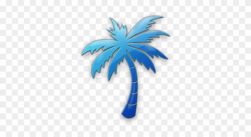 Palm Tree Legacy Icon Tags Icons Etc - Blue Palm Tree Logo #28602