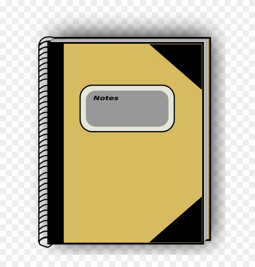 Notebook Yellow - Notebook Clip Art #28625