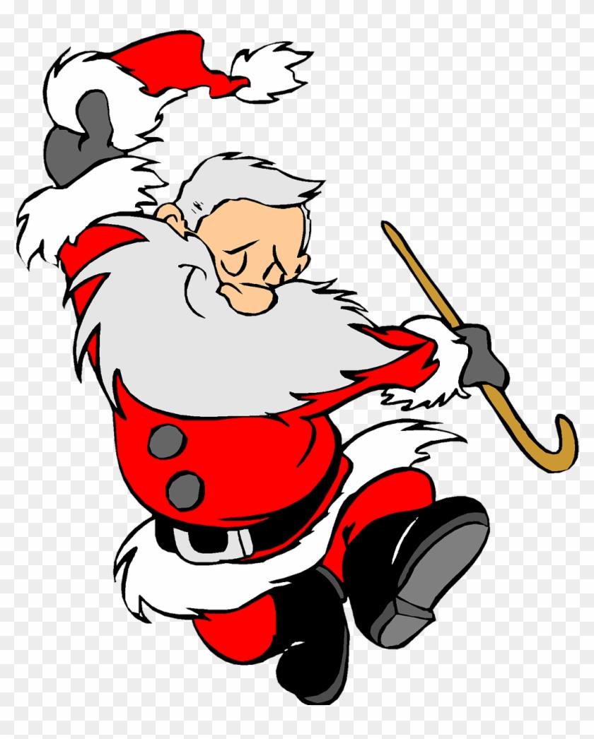 Christmas Holiday Clip Art Santa Clause Happy - Dancing Santa Cartoon #28641