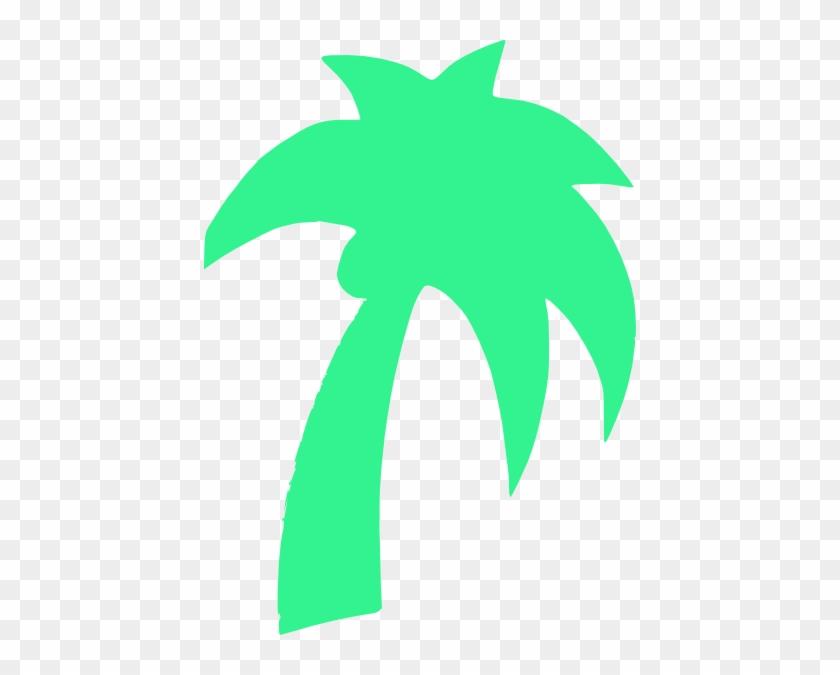 Palm Tree Green Mint Clip Art At Clker - Palm Tree Clip Art #28720
