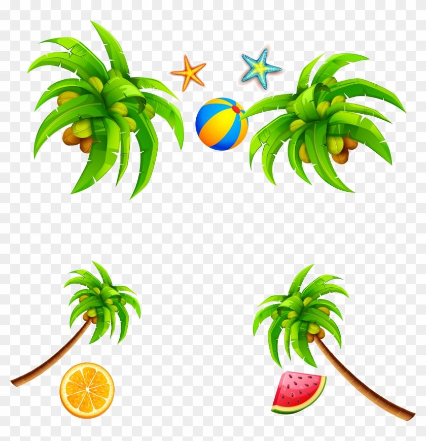 Coconut Leaf Clip Art - Coconut Leaf Clip Art #28969