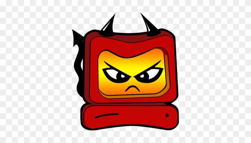 Devil Computer Clipart - Devil Computer Clipart #28727