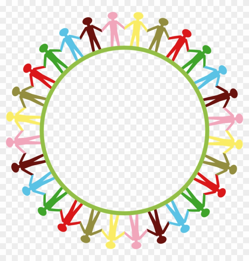 Calling All Writers And Artists - Circle Of People Holding Hands #28729