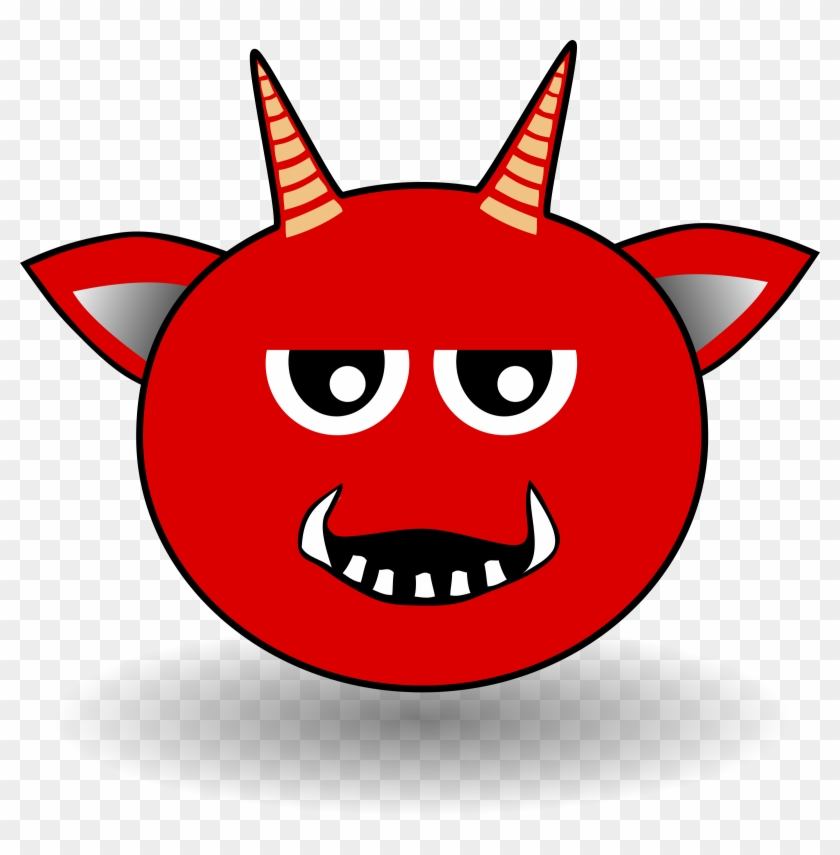 Little Red Devil Head Cartoon - Cartoon Devil Head #28742