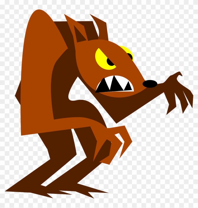 Werewolf Free Vector - Cartoon Werewolf Png #28760