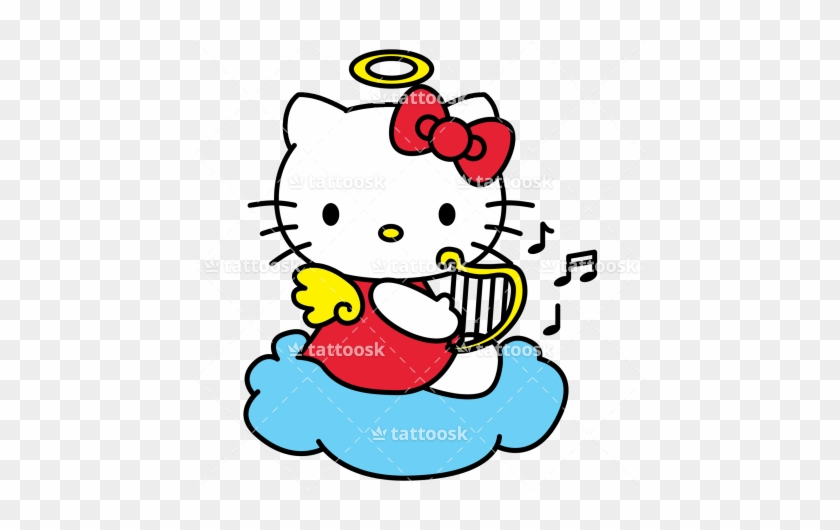 Hello Kitty Angel Tattoos For Girls Clipart - Hello Kitty Angel Png #28821