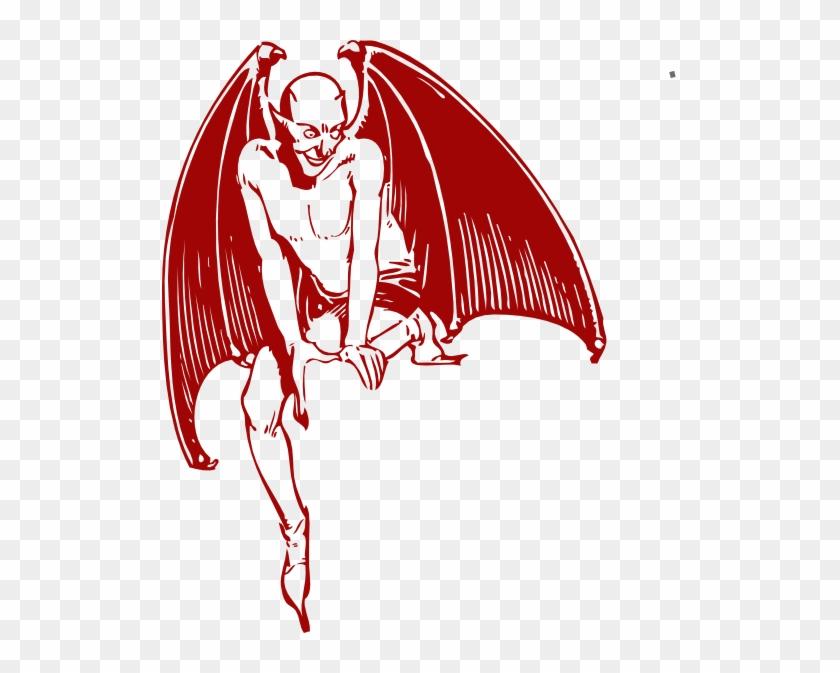 Red Devil Sitting Clip Art At Clker - Red Devil Png #28839