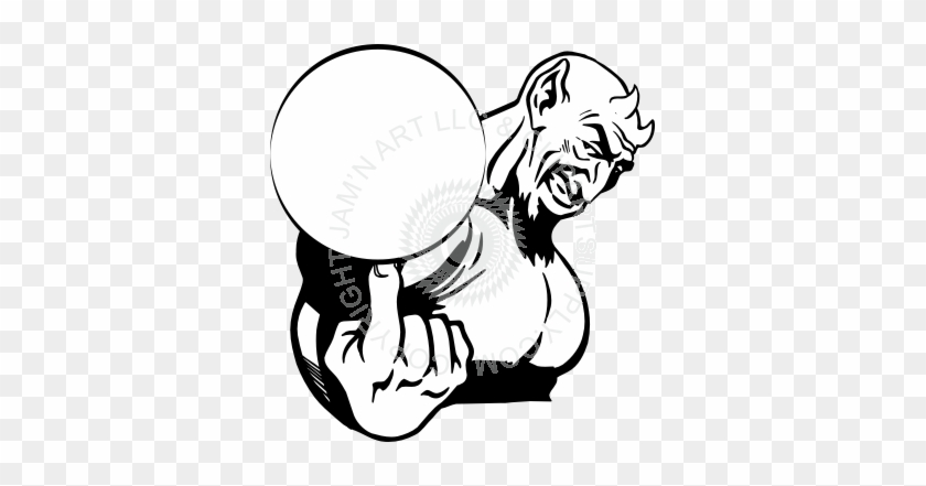 Basketball On Finger Drawing #28841