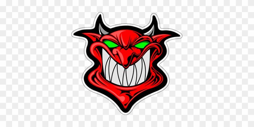 Cartoon Demon Face Head Satan Cartoon Cart - Evil Devil Cartoon Full Print! #28847