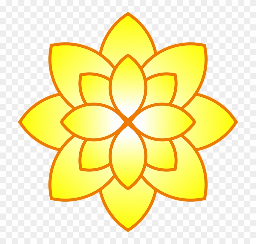 Simple Yellow Flower Clip Art At Clker - Only Good Bug Is The Dead Bug #28927