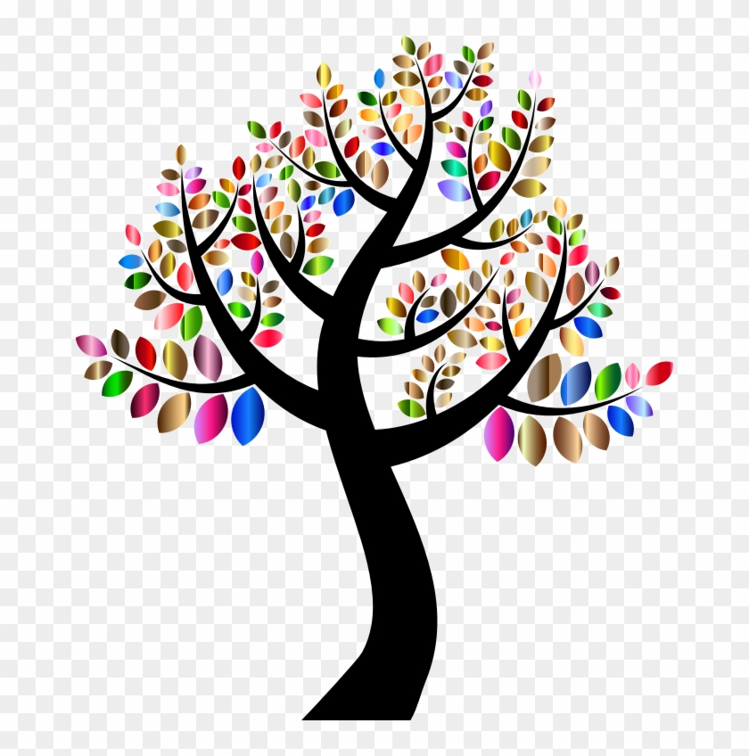 Medium Image - Colorful Tree Clip Art #28939