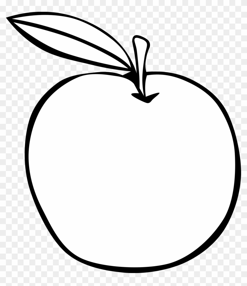 Apple Clipart Simple - Fruits Clipart Black And White #28952